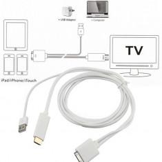 Cablu HDMI HDTV iPhone 4 4S iPad 2 3 Support iOS 9.0