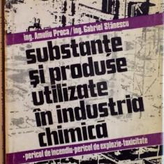 SUBSTANTE SI PRODUSE UTILIZATE IN INDUSTRIA CHIMICA de AMULIU PROCA, GABRIEL STANESCU, VOL. I A-E, 1984 - Carte Chimie