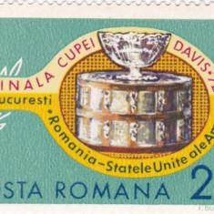 LP 809, Finala cupei Davis, MNH - Timbre Romania, Nestampilat