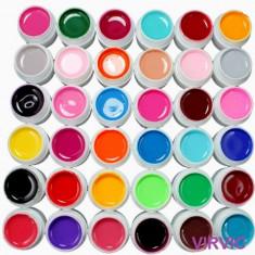Set 36 geluri UV  colorate, Gel colorat