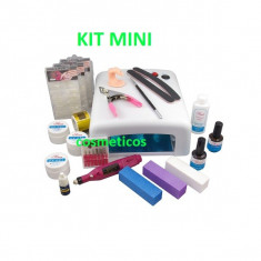 Super set kit unghii cu gel pila electrica lampa uv gel 36W KIT MINI