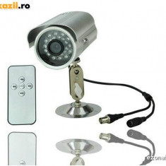 Camera supraveghere inregistrare card Exterior Senzor miscare TVOUT Telecomanda - Camera CCTV, Color