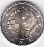 Estonia 2 euro 2016 Paul Keres, UNC