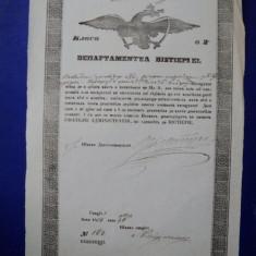 Prahova, Departamentul Vistieriei, Patent de negustor pentru Constantin Hristodor 1854