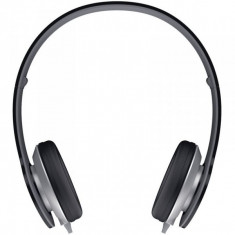 Casti Genius HS-M430 black, Casti On Ear, Cu fir, Mufa 3, 5mm