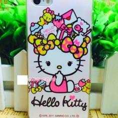 Husa iphone 5 5S SE Hello Kitty - Husa Telefon Apple, Alb