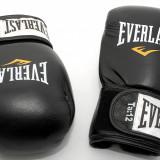 Everlast Fighter 12 oz - manusi de box din piele - negre cu rosu - Originale