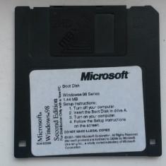 Disketa BOOT originala MICROSOFT Windows 98 SE - Sistem de operare, Floppy-disk