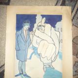 Acuarela - Satira - de Ary Murnu, nesemnata, 24 x 33, 5 cm din colectia Steurer - Pictor roman, Istorice, Tempera, Altul