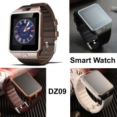 Smart Watch DZ09 cu bluetooth si Sim + cadou, Alte materiale, Android Wear
