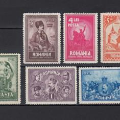10 ANI DE LA UNIREA TRANSILVANIEI 1929 - SERIE NESTAMPILATA FARA SARNIERA - Timbre Romania