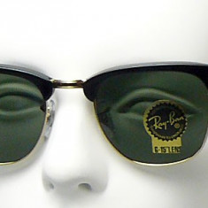 RAY BAN 3016 Clubmaster, Rama Neagra-Lentila Verde - Ochelari de soare Ray Ban