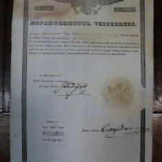 Brevet de mester din corporatia croitorilor pe numele Iordanescu 1846 - Diploma/Certificat