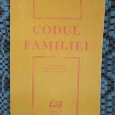 CODUL FAMILIEI 1993 (CA NOU!!!) - Carte Dreptul familiei