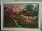 Pictura Casa parinteasca - Mircea Dumitrescu ( 1915-1984 ) Lichidare colectie, Natura, Ulei, Realism