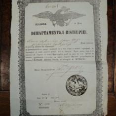 Ivancea Antonovici, Brevet de mester din corporatia brutarilor, Bucuresti 1854 - Diploma/Certificat