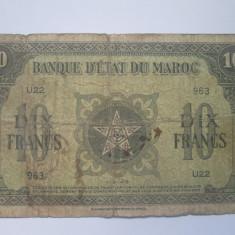 Maroc.10 francs.1943 - bancnota africa