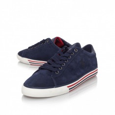 Tenisi/Pantofi sport Ralph Lauren HARVEY piele 43 - Adidasi barbati Ralph Lauren, Culoare: Albastru, Piele intoarsa
