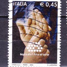 """Timbre ITALIA 2004 = LIGA UNIUNII """"FIR DE AUR"""""""