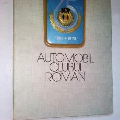 Placheta aniversara Automobil Clubul Roman - ACR - 75 ani + diploma ACR colonel - Jubiliare