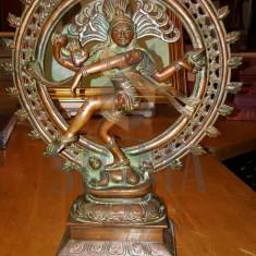 Statueta bronz DANCING SHIVA - Lord NATARAJA - INDIA - 35 cm - Sculptura