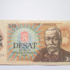 Cehoslovacia.10 korun.1986 - bancnota europa