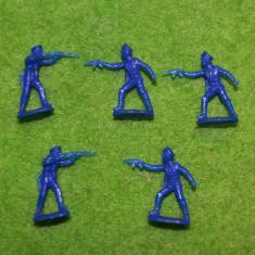 #12 Lot 5 figurine soldati armata, 2cm, plastic, colectie, diorama, albastri