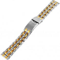 Bratara ceas din otel inoxidabil bicolor - curea metalica - 18mm - Curea ceas din metal