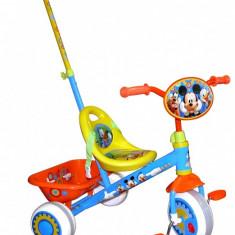 Tricicleta Mickey - Tricicleta copii, 12-24 luni, Baiat, Bleu