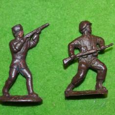 #5 Lot 2 figurine soldati armata, cca 6.5cm, plastic, colectie, maro, diorama