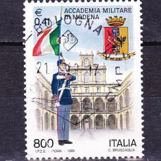 Timbre ITALIA 1999 = ACADEMIA MILITARA DIN MONDENA - Timbre straine, Stampilat
