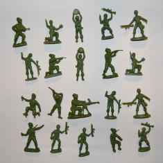 #19 Lot 20 figurine soldati armata, 6cm, plastic, colectie, diorama, verzi