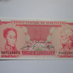 Venezuela.5 bolivares.1989.UNC