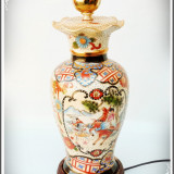 SUPERBĂ! VECHE LAMPĂ ELECTRICĂ DIN PORȚELAN CHINEZESC - SCENE DE LUPTĂ - 1, 5 KG! - Portelan, Decorative