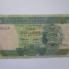 Insulele Solomon.2 dollars.ND(1986)