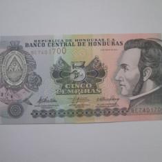 Honduras.5 lempiras.2010.UNC - bancnota america