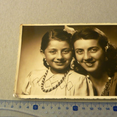 Fotografie veche - xxl - mama si fiica - 1944 - 2+1 gratis - RBK11373