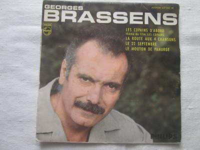 "Georges Brassens - les Copains D'abord _ vinyl(7"")_Franta.1965 foto"