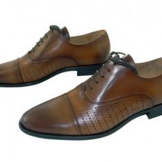 Pantofi barbati eleganti Denis-1289 cuoio 4, Marime: 40, 41, 42, 43, 44, 45, Culoare: Maro, Piele naturala