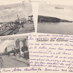 SALUTARI DIN CALARASI, PORTUL, PADURICEA, STRADA STIRBEI - VODA, CIRCULATA - Carte Postala Muntenia pana la 1904, Printata