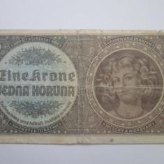 Boemia si Moravia.1koruna.ND(1940) - bancnota europa