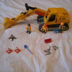 Playmobil City - Excavatorul 3001 - Masinuta Playmobil, Plastic