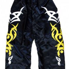 Pantaloni Kick Boxing LX-2*Satin*Negru*210 cm - Taekwondo