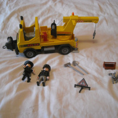 Playmobil City 5270 - Masina de ridicat masini a politiei americane - Masinuta Playmobil, Plastic