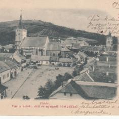 AIUD, PIATA CLASICA CIRCULATA 1901 - Carte Postala Transilvania pana la 1904, Printata