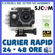 CAMERA DE ACTIUNE SPORT SJ5000X ELITE, ULTRA HD 4K, 12 MPX, ACCESORII DE FIXARE