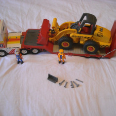 Playmobil City - Giga transport TIR + buldozer (3934) - Masinuta Playmobil, Plastic