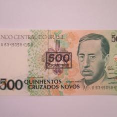 Brazilia.500 cruzeiros.ND(1990).UNC - bancnota america