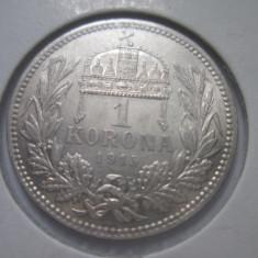 Ungaria.1 krone.1915.argint.in cartonas.cod catalog - km492