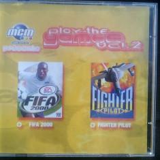Joc pc Fifa 2000 si Fighter Pilot (distribuite oficial in aceeasi carcasa) - Jocuri PC Electronic Arts, Sporturi, 3+, Single player